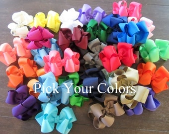 Girls Hair Bows, Boutique Hairbows, Lot of Double Layered Hair Bows, Big Hair Bows, Large Hairbows, Set of Bows, Wholesale Hairbows, dcp