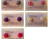 Pick a pair fabric button post earrings