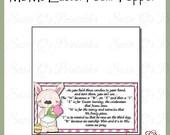 M&Ms Easter Poem Topper - Digital Printable - Immediate Download