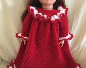 "18"" doll nightgown and slippers"