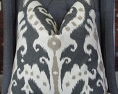 Black Ikat Pillow Cover, Decorative Pillow, Throw Pillow, Designer Fabric, Toss Pillow, Home Furnishing, Home Decor, Pillow Case