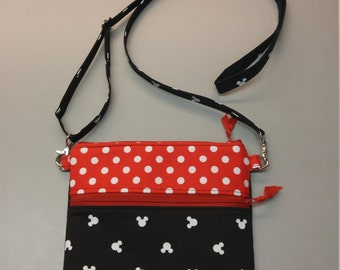 Disney Minnie Mouse purse, messenger/cross body bag handmade