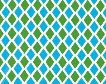 Free Spirit Fabric-Jennifer Paganelli - HAPPY LAND-Madison-Blue PWJP070 1 Yard Cut