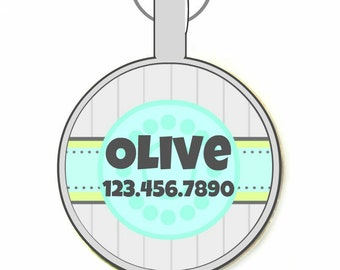 Beach House- Personalized Dog ID Pet Tag Custom Pet Tag You Choose Tag Size & Colors