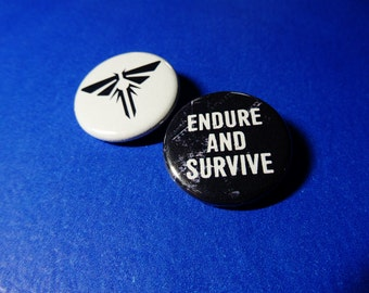 Endure & Survive, Firefly Pinback Button Set (or Magnets)
