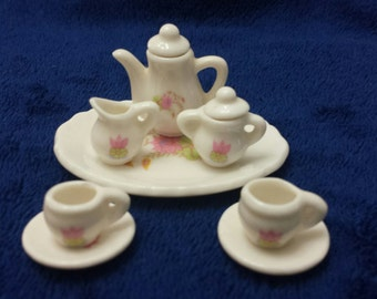 8 Piece tiny china tea set