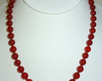 Carnelian Necklace 18 Inches In Length