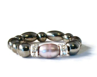 Freshwater Pearl Magnetic Bead Ring