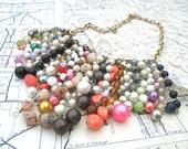 boho hippie necklace gypsy fringe assemblage bib cascade beads