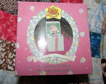 PRECIOUS MOMENTS Christmas Ornament Mint In Box Enesco Limited Edition Pop Up 1993
