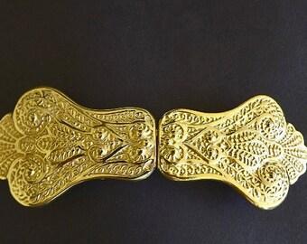 Vintage Belt Buckle, Ladies Accessories, Belt Supplies, Ladies Fashion Jewelry, Sewing Supplies, Made In Spain, Dress Making Accessories