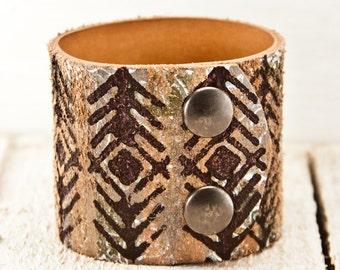 Summer Boho Jewelry Leather Cuff Bracelet, Gypsy Jewelry, Original Best of Etsy