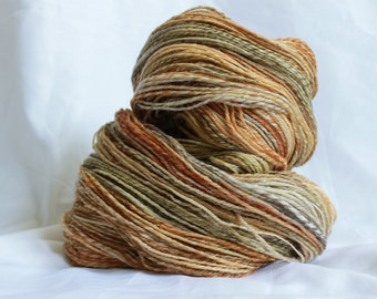 Hand spun Super fine merino light sport weight 348 yards (116 Grams/ 4.1 OZ)