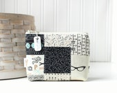 Patchwork Neutrals Coin Purse Gift Card Credit Card Holder Geeky Zipper Pouch Nerdy Cool Change Purse