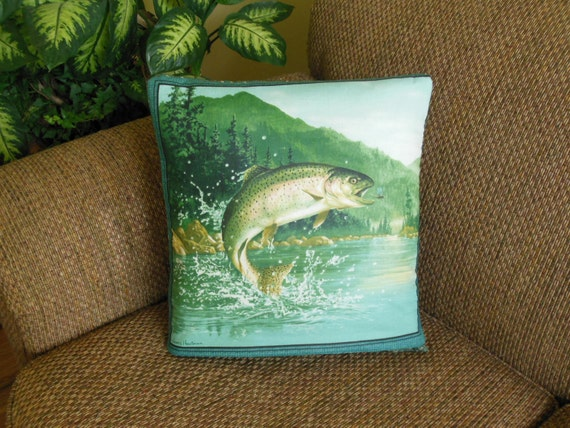 Fish Fisherman QUILLOW - a personal quilt that folds into a pillow