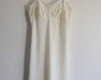 Slip Dress Vintage Lace White