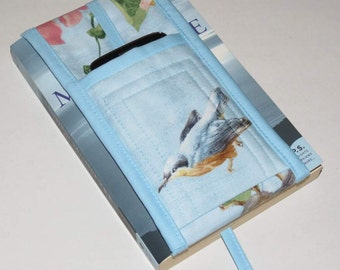 Fabric Bookmark with Pocket for Glasses, Phone, Notepad and Pencil