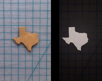 Reflective State or Country Iron-on Patch