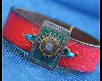 Emerald Sun Recycled Leather and Metal