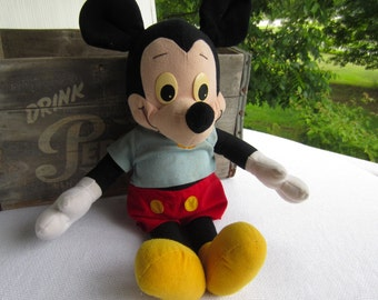 Vintage Playskool Talking Mickey Mouse Plush Doll