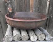 Walnut Wood Bowl - Reclaimed Walnut Wood Wooden Bowl - Rustic Home Decor - Hand Turned Wood Bowl - Salad Bowl
