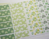 24 Planner Stickers Washi St Patrick's Day Planner Stickers March Planner Stickers Clover Leaf Stickers PS370g