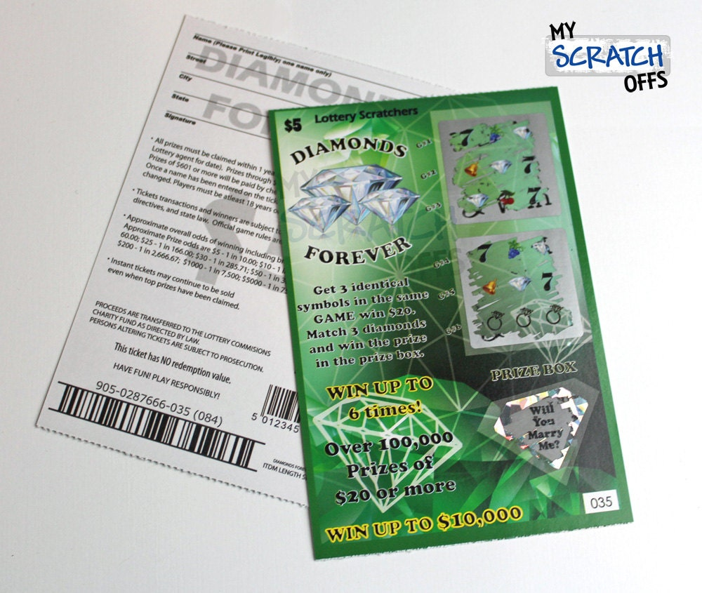 Scratch off lotto replica 1 card will you marry zoom sciox Images