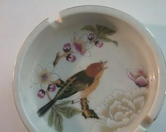SALE ashtray bird japanese hippie boho bohemian art jewelry tray Asian art 80s 1980s chinese garden