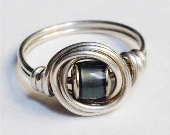 Mood Ring   Sterling Silver Ring   Sterling Silver Mood Ring   Wire Wrapped Ring    Dainty Mood Ring