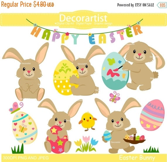 ON SALE Easter Clipart