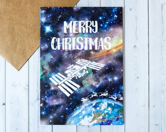 Space Station Christmas Card