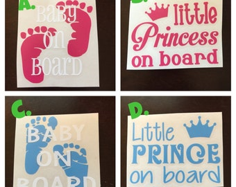 Car Decals - Baby on board