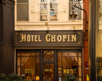 Paris Photography Hotel Chopin Paris Decor Passage Jouffroy Photo France Print Wall Art Home Decor Brown par124