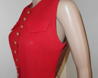 Womans Red 40's Lightweight Vest - Size S