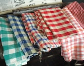 Huge Lot 1950s Fabric / Plaids, Stripes and Gingham