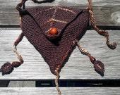 Leafy Brown Woodland Elf Bag