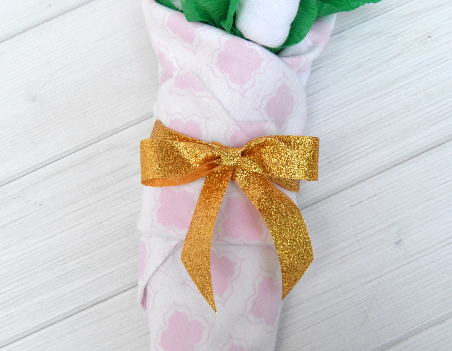 Baby Gift Gold : Pink and gold baby gift shower niece