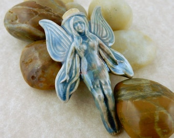 Raku Celtic Fairy potion bottle for oils, perfume or incense