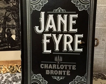 Literary Book Clutch Jane Eyre by Charlotte Bronte Book Purse Made to Order