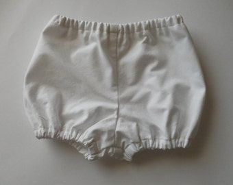 White  cotton  bloomers diaper covers for babies toddlers 0-3 months to size 3