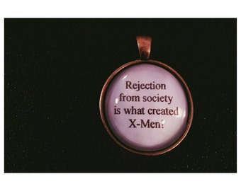 Rejection Liz Lemon Quote Necklace  - 30 rock quote necklace