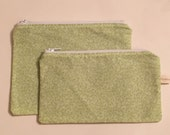 Zipper Bag Set / Essential Oil Bag / Make Up Bag - Lime