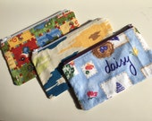 SALE Small Zipper Bag / Essential Oil Bag / Make Up Bag - you pick