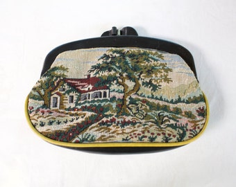 Vintage Tapestry Evening clutch purse
