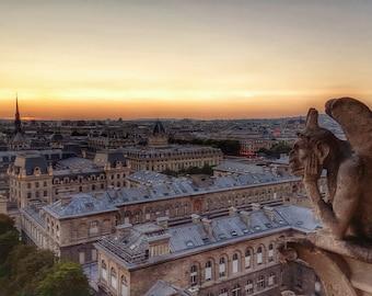 Sunset Over Paris - Fine Art Original Photograph, Notre-Dame, Wall Art, Home Decor