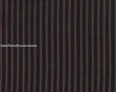 Dunroven House H-57 Primitive Homespun Black Ticking Fabric 1/2 Yd Cut