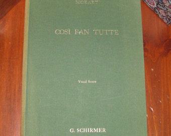 Mozart's Cosi fan Tutte Vocal Score
