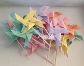 Pastel Cupcake Pinwheels