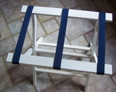 white folding luggage stand  -  new