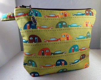 Camper Camping Green Gift  Makeup Bag Cosmetic Travel Bag Organizer Bag Cute